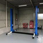 中古2柱リフト 納品設置 ドリームガレージ